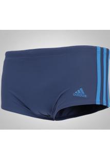 0ff2bc263af00 ... Sunga Com Proteção Solar Uv Adidas 3S Infinitex Lateral Larga - Adulto  - Azul Escuro