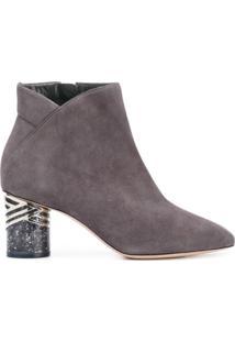 Nicholas Kirkwood Ankle Boot De Camurça 'Zaha' - Grey