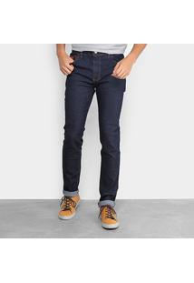 Calça Jeans Skinny Coca-Cola Escura Masculina - Masculino-Azul Escuro