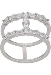 V Jewellery Anel Baguette Spine - Prateado