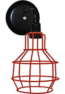 Arandela Aramado Modelo Pêra - 16Cm X 13Cm - Vermelho
