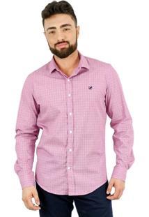 Camisa Norfolk Com Padronagem & Bordado - Masculino