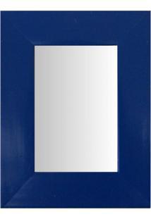 Espelho Moldura Madeira Lisa Raso 16192 Azul Art Shop