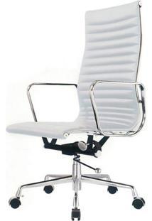 Cadeira Office Madrid Alta Pu Branco Base Aluminio - 11547 - Sun House