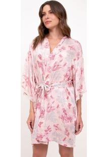 Robe Floral Com Detalhes Em Renda