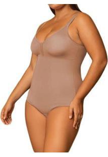 Body Modelador Sem Bojo Plus Size Shanty Feminino - Feminino-Nude
