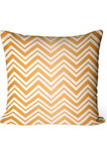Capa De Almofada Love Decor Avulsa Decorativa Chevron Douradas