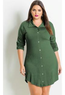 Vestido Chemisier Curto Verde