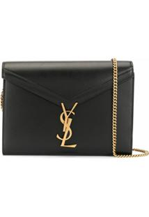 Saint Laurent Carteira Cassandra Com Corrente - Preto