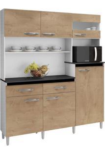 Armário De Cozinha 6 Portas 2 Gavetas Arte Móveis Avelã