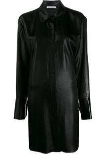 T By Alexander Wang Chemise Oversized - Preto