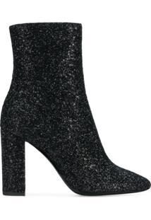 Saint Laurent Ankle Boot Com Zíper Lateral - Preto