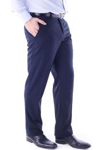 Calça 5540 Social Azul Marinho Traymon Modelagem Regular