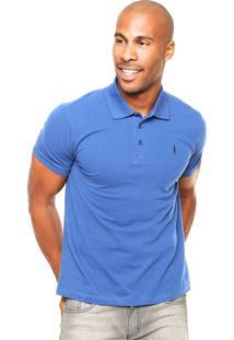 Camisa Polo Coca-Cola Jeans Bordado Azul