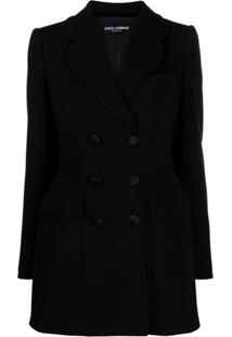 Dolce & Gabbana Fitted Double-Breasted Blazer - Preto