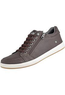 Sapatênis Cr Shoes Casual Sapatofran Com Elástico E Zíper Leve Lançamento Café