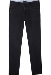 Calça Dudalina Jeans Stretch Bolso Faca Masculina (Jeans Escuro, 36)