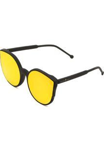 Óculos De Sol Adriane Galisteu Pontudo Vermelho/Preto
