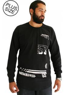 Camiseta Swag Gangster Plus Size Preta