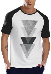 Camiseta Raglan Wevans Triangulo Triplo Branco