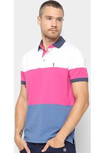 Camisa Polo Aleatory Estampa Listrada Masculina - Masculino