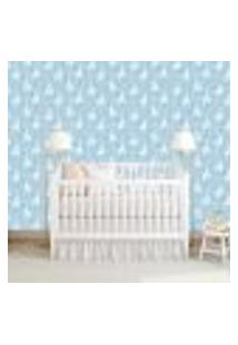 Papel De Parede Adesivo - Lhama Baby Azul - 085Ppb