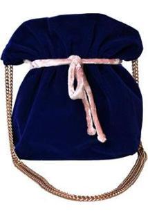 Bolsa Saco Ania Store Nova Iorque - Feminino-Azul