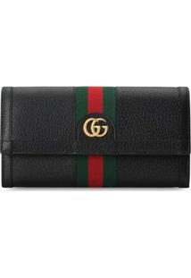 Gucci Carteira Continental Ophidia Gg - Preto