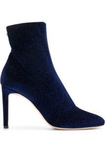 Giuseppe Zanotti Design Bota 'Celeste' Com Brilho - Azul