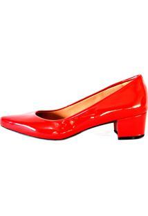Sapato Prata Couro 1009803 Vermelho Verniz