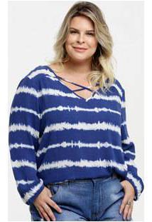 Blusa Feminina Tie Dye Strappy Plus Size Marisa