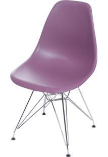 Cadeira Dkr Polipropileno E Base De Metal Pian – Roxa