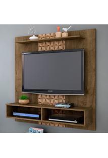 Painel Para Tv Gama Madeira Rústica/Madeira 3D - Móveis Bechara