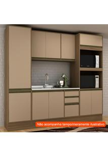 Cozinha Compacta Safira 10 Pt 3 Gv Capuccino E Avelã
