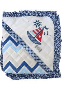 Cobertores E Mantas Minasrey Loupiot Classic Azul Marinho
