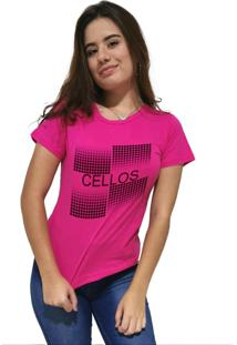 Camiseta Feminina Cellos Degradê Premium Rosa