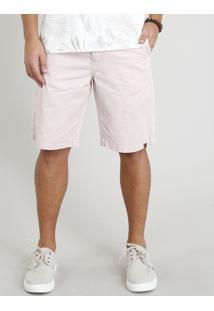 Bermuda De Sarja Masculina Com Cordão Rosê