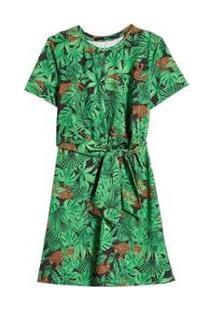 Vestido No Estampa Floresta Eva - Feminino