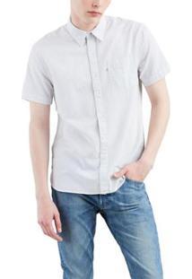 Camisa Levis Short Sleeve Sunset One Pocket - Masculino-Branco