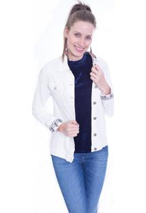 Jaqueta Gup'S Jeans Étnica Branca