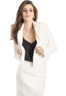 Jaqueta Lucidez Textura Off White