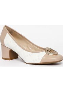 4d8c2a8e91 ... Sapato Tradicional Em Couro Com Pespontos - Branco   Nudcapodarte