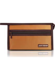 Necessaire Envelope Jacki Design Microfibra - Unissex-Caramelo