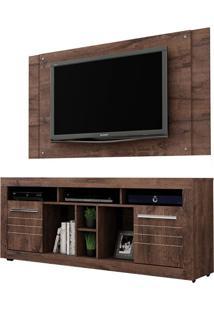 Rack Com Painel Extensível Para Tv 46 Polegadas Firenze Castanho 180 Cm