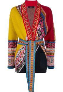 Etro Cardigan Com Amarração Na Cintura - Vermelho