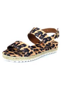 Anabela Flats&Co Lona Corda Animal Print