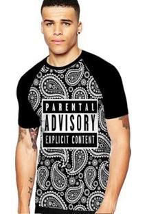 Camiseta Stompy Raglan Modelo 188 Masculina - Masculino-Preto