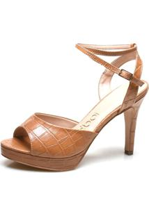 Sandália Salto Fino Iod'S – Croco Caramelo Zmba43-5C