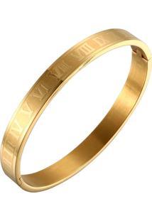 Pulseira Bracelete Vanglore Romano Dourada