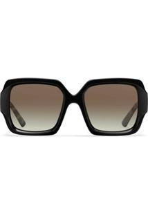 Prada Eyewear Óculos De Sol Quadrado Com Efeito Tartaruga - Cinza